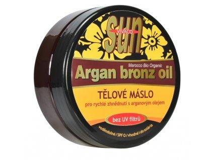 Opalovací máslo s bio arganovým olejem SPF 0 SUN VITAL 200 ml