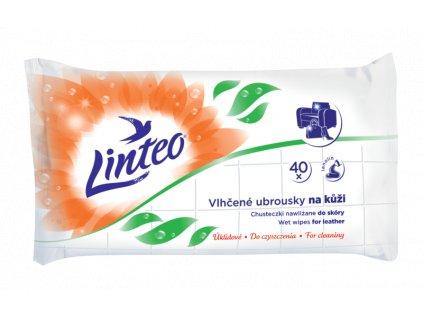 Vlhčené úklidové ubrousky Linteo na kůži 40 ks