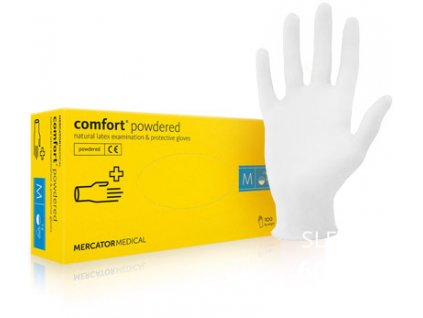 mercator medical comfort powdered jednorazove rukavice mediskont