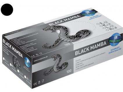 black mamba unigloves mediskont nitrilove rukavice skladem
