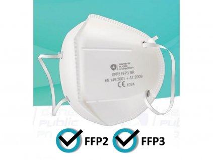 5 ks respirátorů General Public FFP2/FFP3 s certifikací (69 Kč/ks)