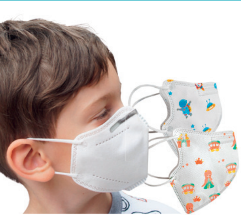Dětské respirátory FFP2 s obrázky 10 ks (19,9 Kč/ks) Barvy: Modrá