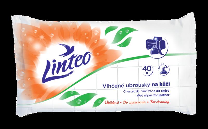 Levně Vlhčené úklidové ubrousky Linteo na kůži 40 ks