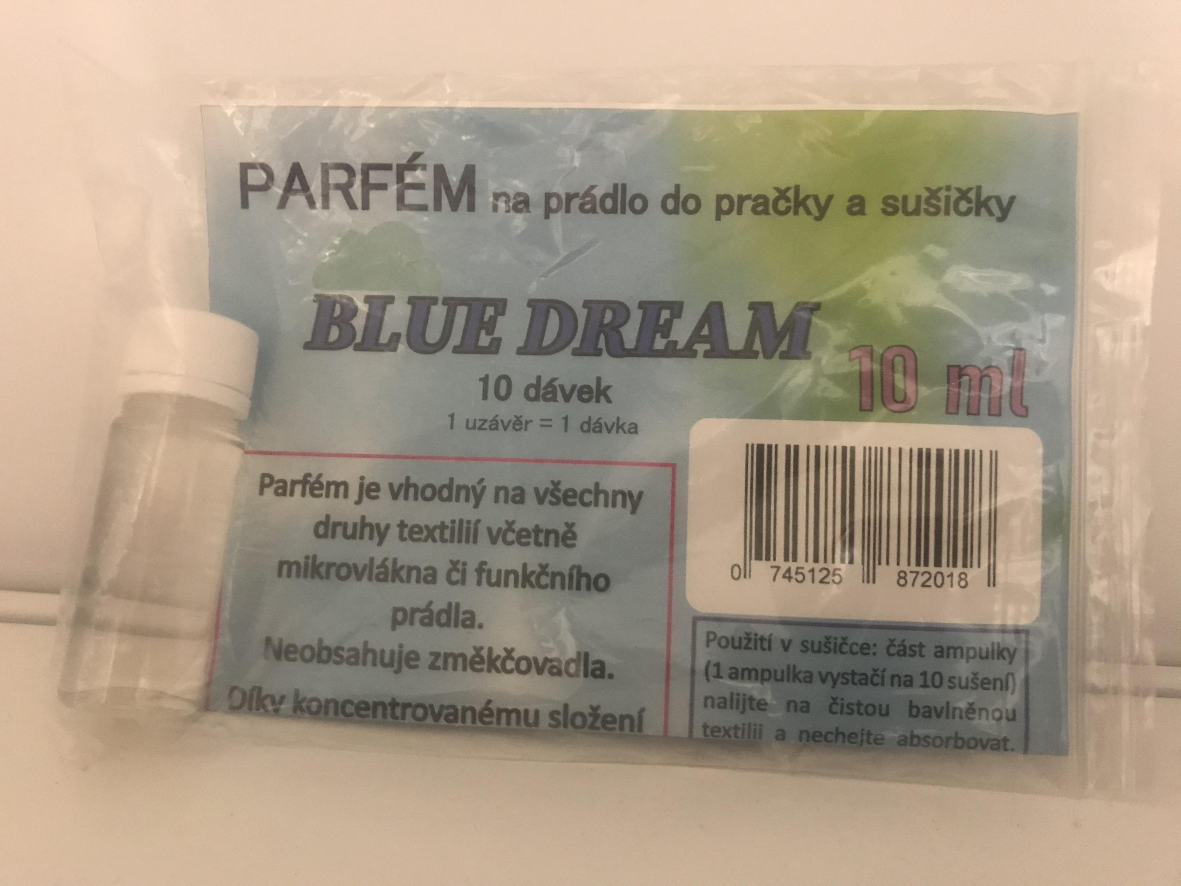 Blue dream 10 dávek - Parfém na prádlo do pračky a sušičky 10 ml