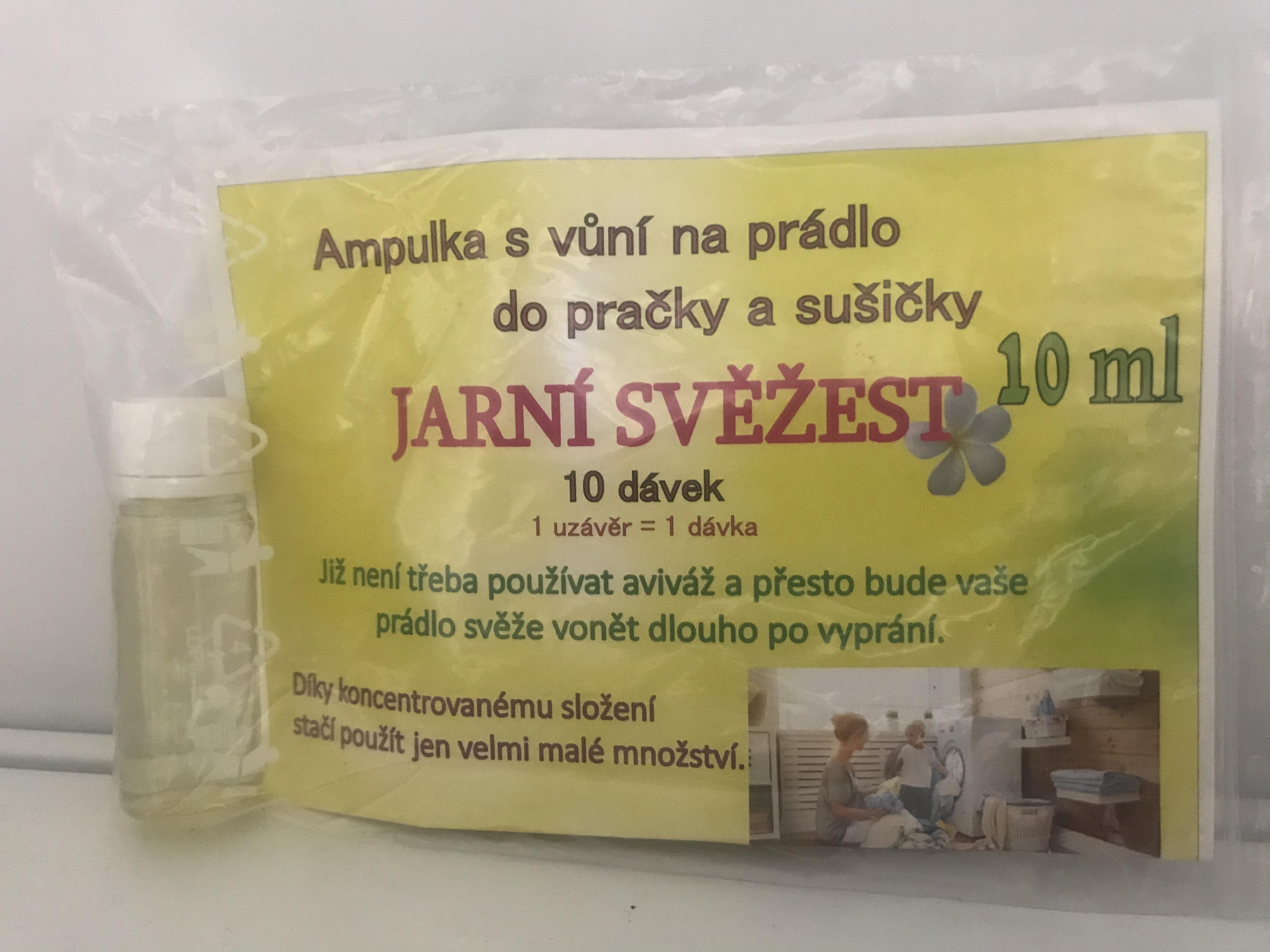 Jarní svěžest 10 dávek - Parfém na prádlo do pračky a sušičky 10 ml