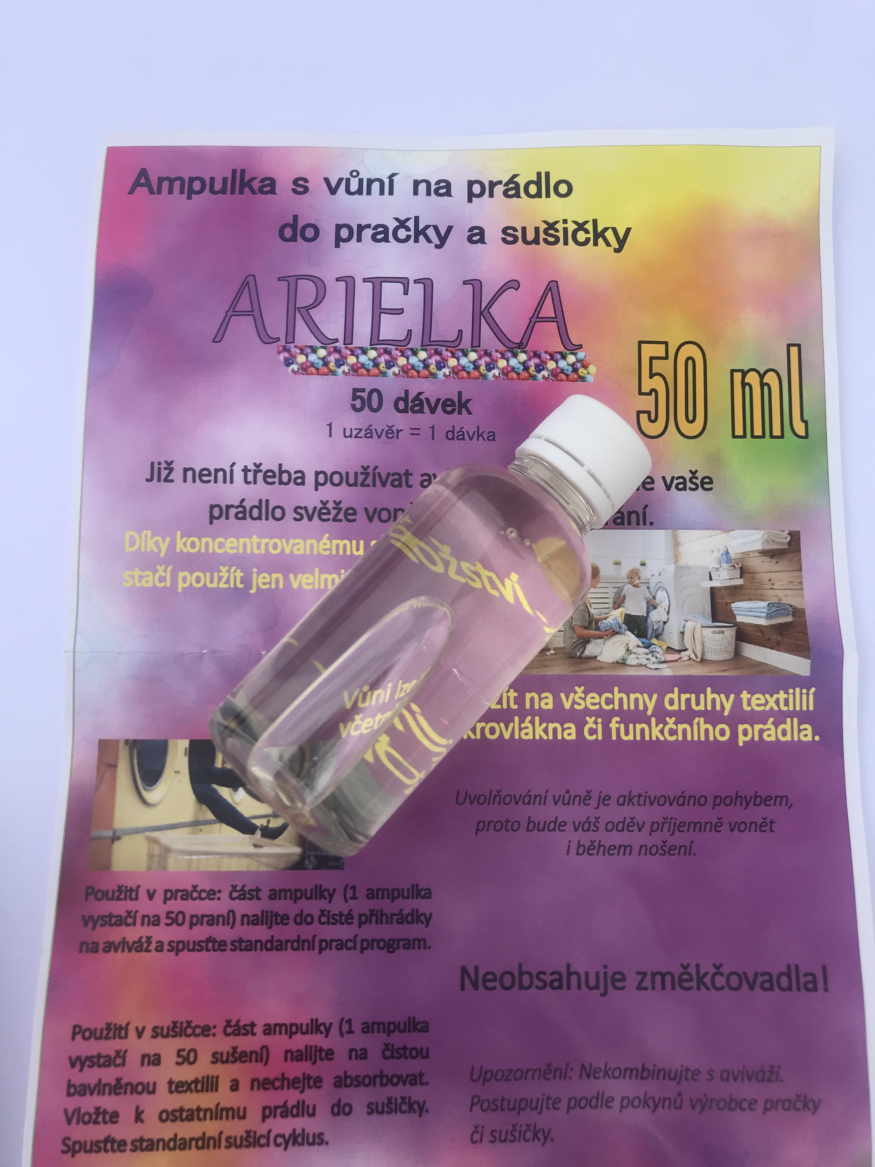 Arielka 50 dávek - Parfém na prádlo do pračky a sušičky 50 ml