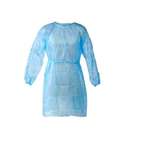 Jednorázový návštěvnický plášť - modrý (univerzální velikost, nesterilní)