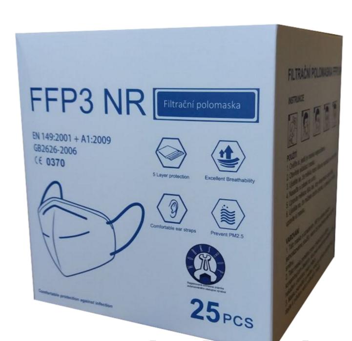 Respirátor Workshop FFP2/FFP3 Balení: 5 ks - balení