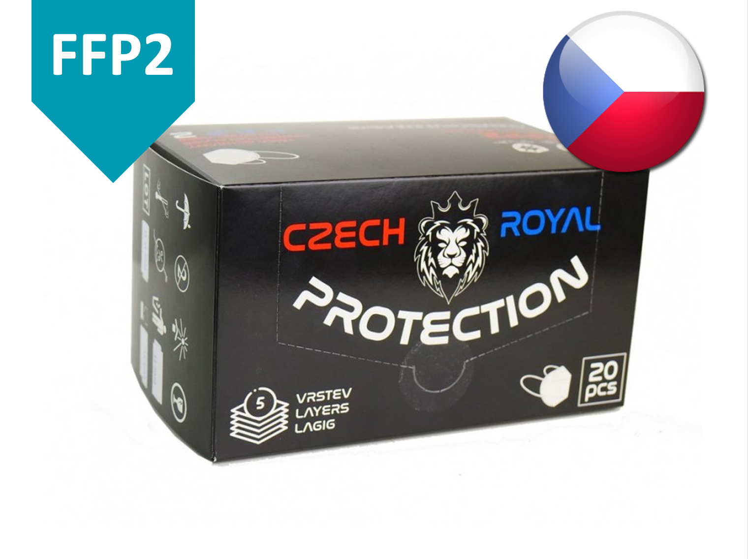 Czech Royal Protection respirátor FFP2 20 ks
