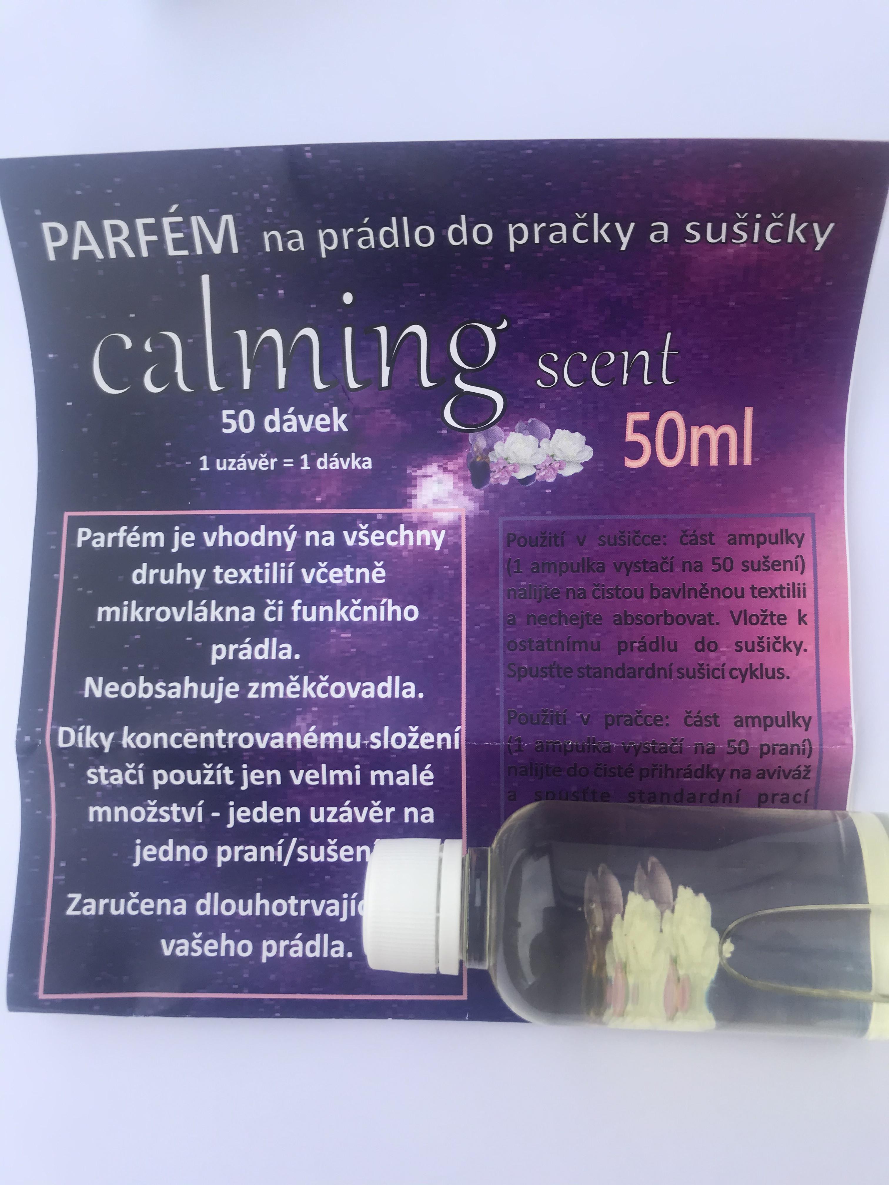 Parfém na prádlo do pračky a sušičky 50ml vůně Calming Scent (50 dávek)