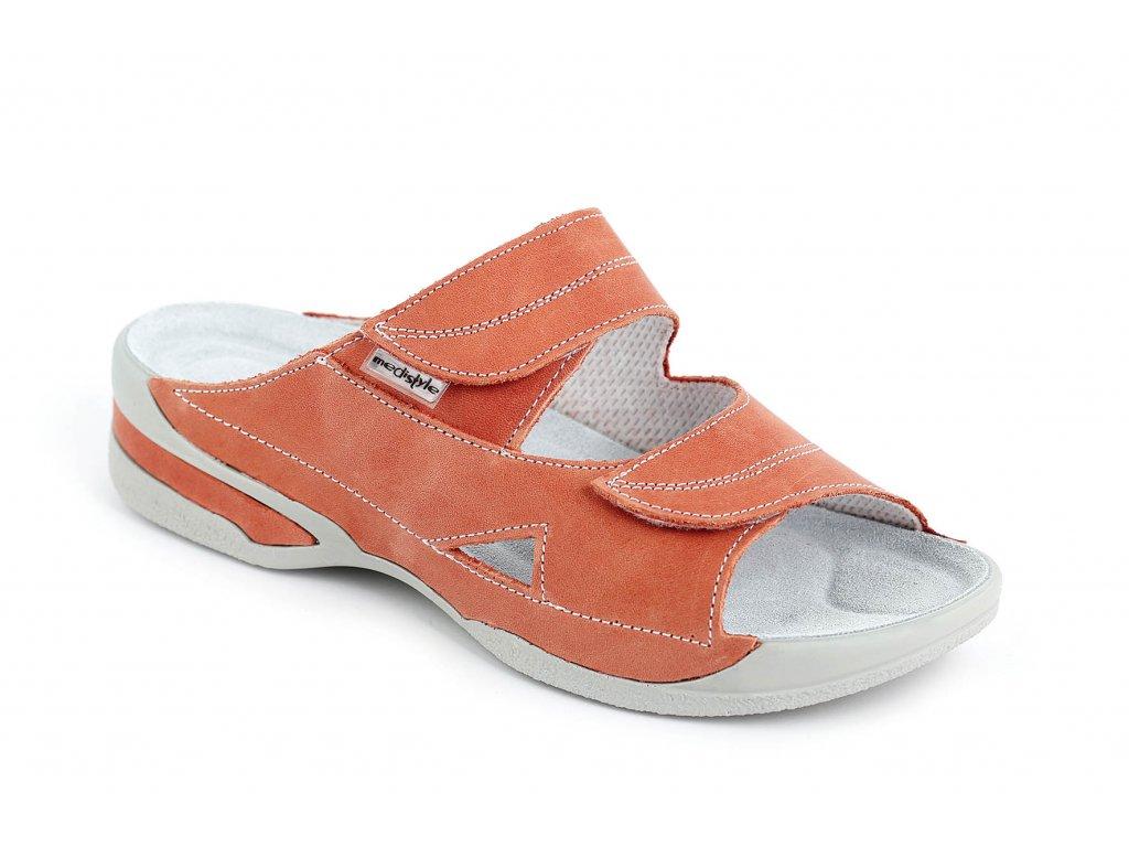 MEDISTYLE zdravotní dámská pantofel LUCY II.jakost oranžový 5L-E018