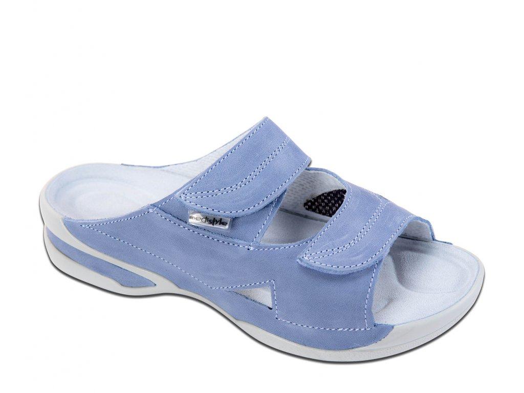 MEDISTYLE zdravotní dámská pantofel LUCY II.jakost modrý-hallux 5L-E019/H