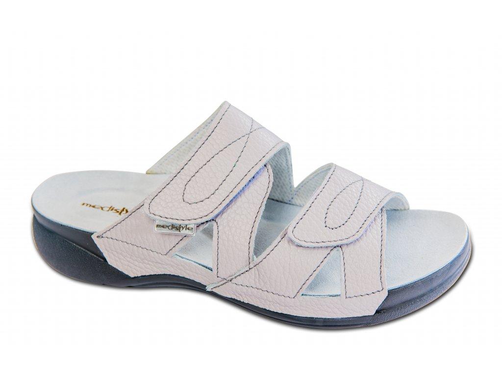 MEDISTYLE dámská zdravotní pantofel ZIVA II.jakost světle šedá 1Z-H011/TL