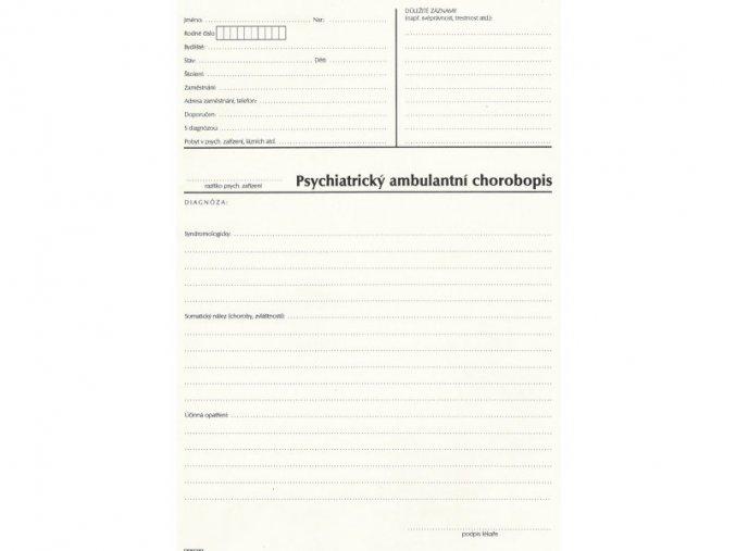 psychiatrický ambulantní chorobopis