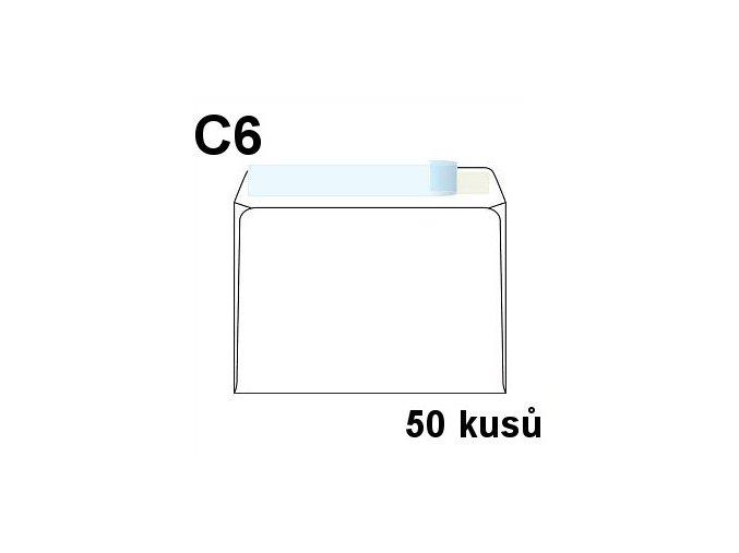 obalka dopisni c6 samolepici s kryci paskou 114x162 mm 50 ks