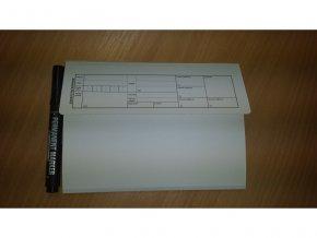 zdravotní záznam malý A5 - desky 15x21cm na A5