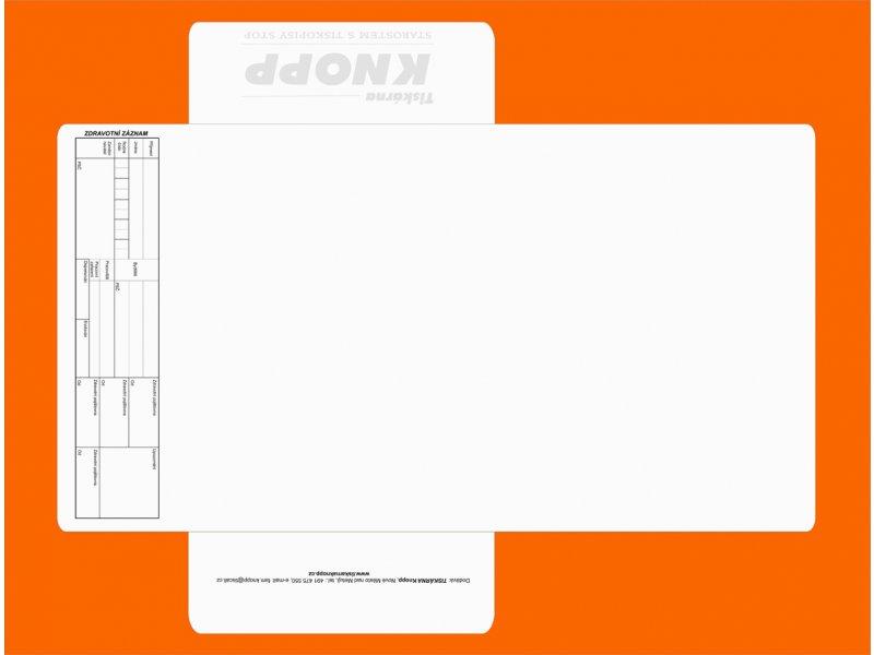 zdravotní záznam - desky - karton 23x31cm