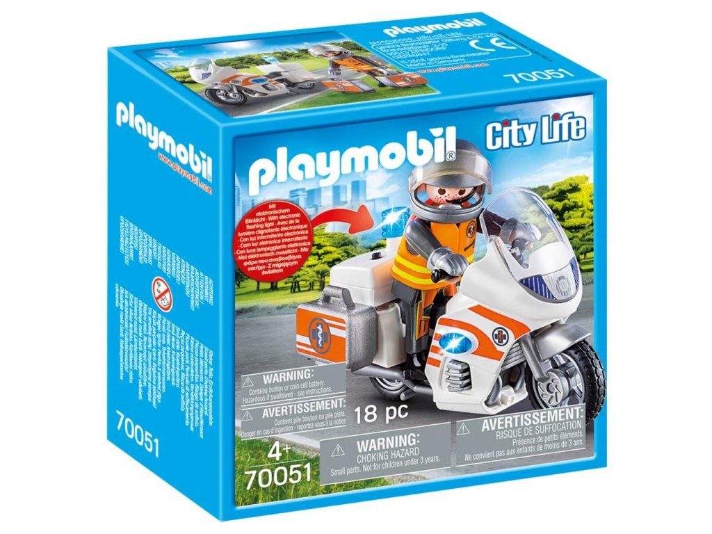 Playmobil 70051 Doktor na motorce