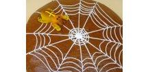 Pavučinka s pavoukem 175 g  Medový perník. Ruční práce - Hand made.