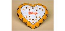 Srdce děkovné 18 x 17 cm č. 6  Medový perník. Ruční práce - Hand made.