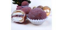 Marcipánové brambůrky s kaštanovým krémem 100 g  Cukrářský výrobek s náplní ostatní. Vánoční cukroví.