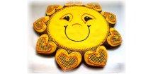 Slunce dárkové 500 g  Medový perník. Ruční práce. Handicraft.