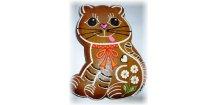 Kočka dárková 500 g  Medový perník. Ruční práce. Handicraft.