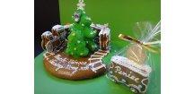 """Perníkový vláček """"Veselé Vánoce"""" 3D  Medový perník. Ruční práce - Hand made."""