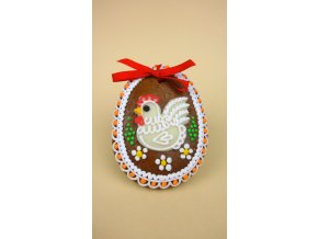 Perníkové vejce se slepičkou 30 g  Medový perník. Ruční práce. Handicraft.