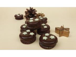 Čokoládová kolečka s hvězdičkami 200 g  Cukrářský výrobek s náplní ostatní. Vánoční cukroví.