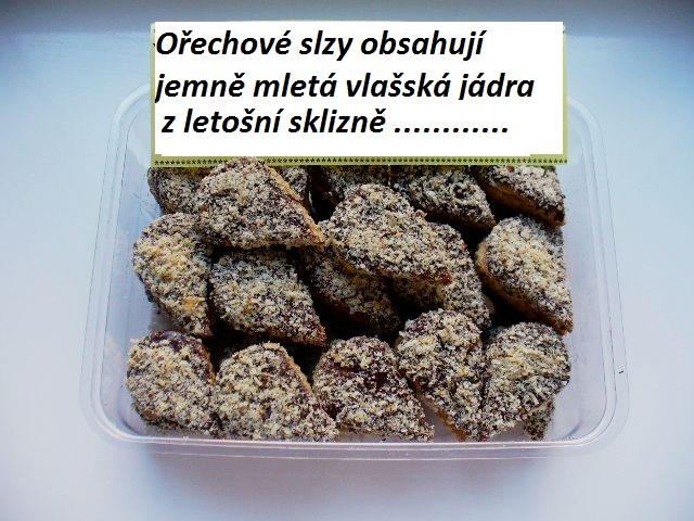 Ořechové slzy 200 g  Cukrářský výrobek s náplní ostatní.