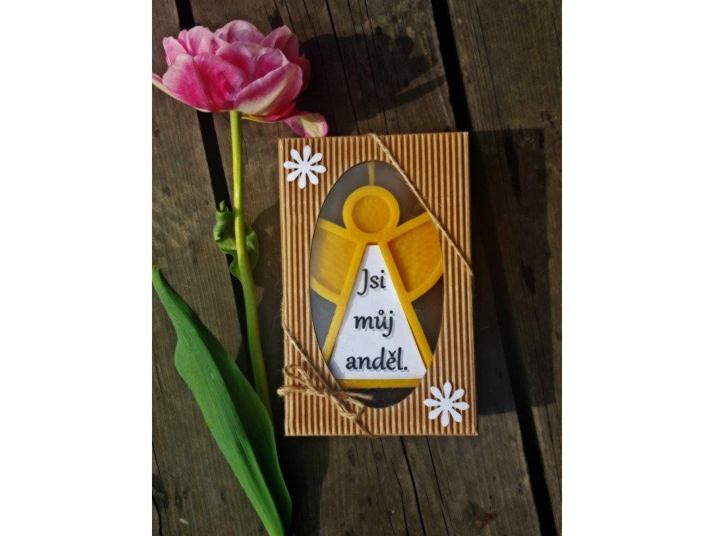 svíčka z včelího vosku dárkový anděl3