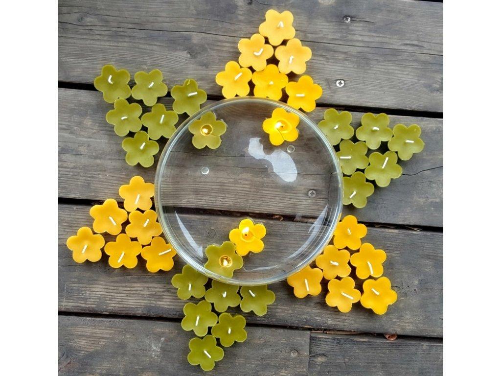 plovouci svicka vceli vosk kvetina