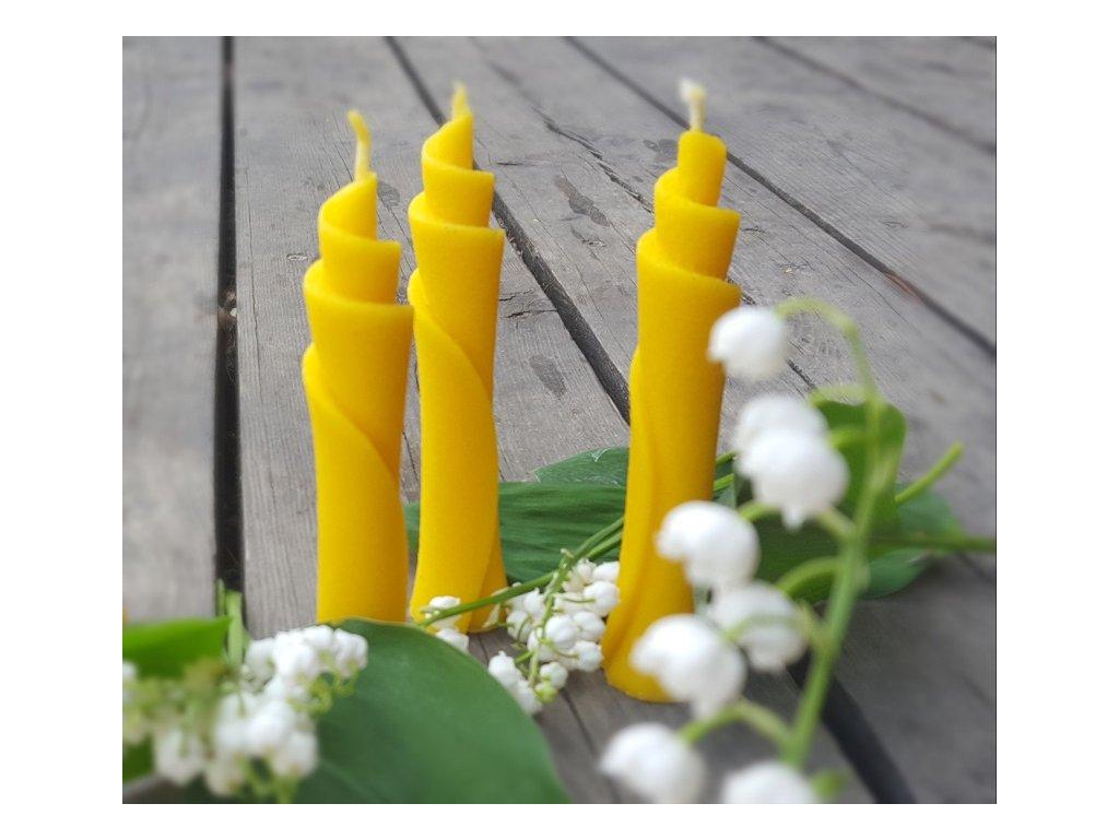 svíčka včelí vosk spirála