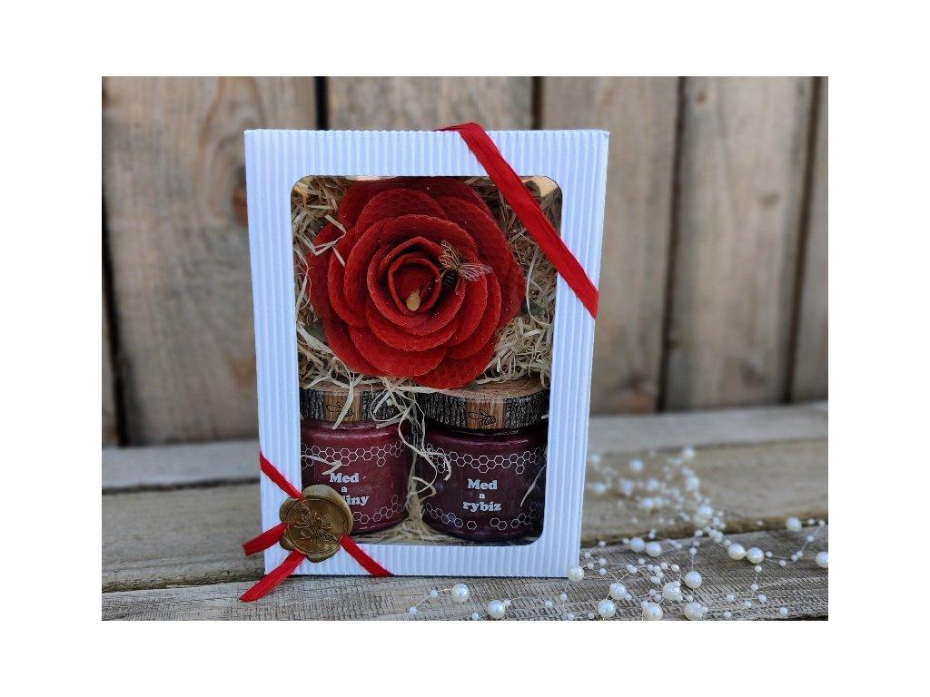 medový dárek rudý2
