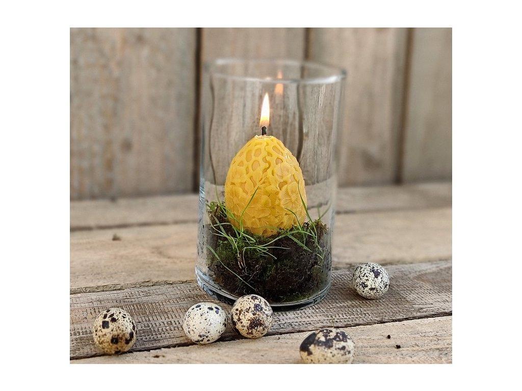 velikonoční svíčka z včelího vosku vajíčko
