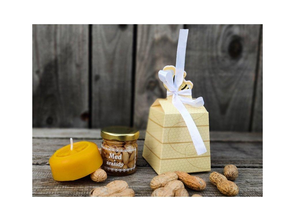 medový dárek medová krabička