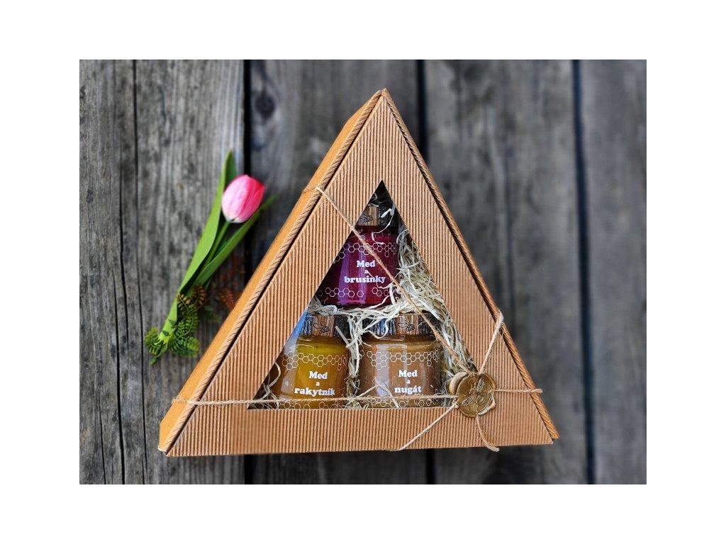 medový dárek trojúhelník