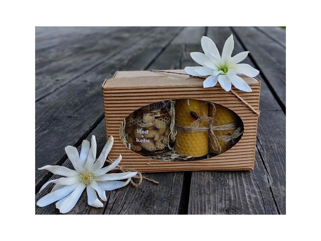 ořechy v medu kešu dárek