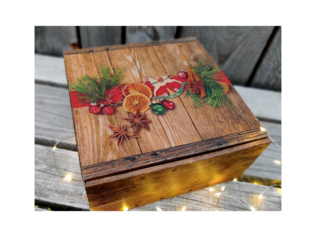 vánoční dárková krabice 1