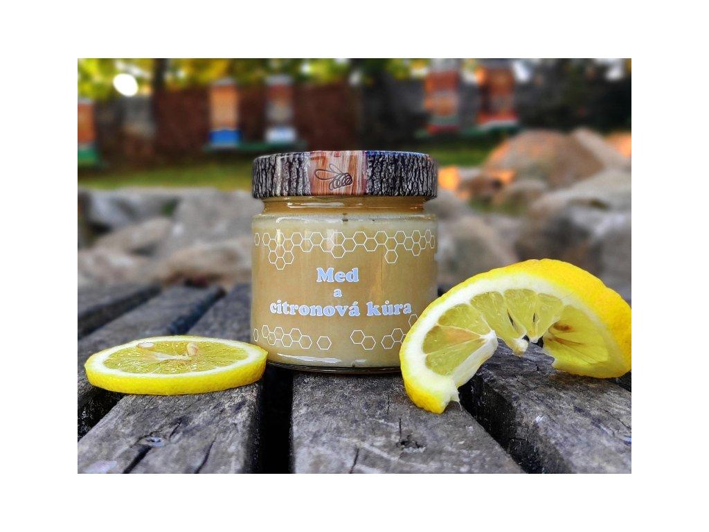 med a citronová kůra