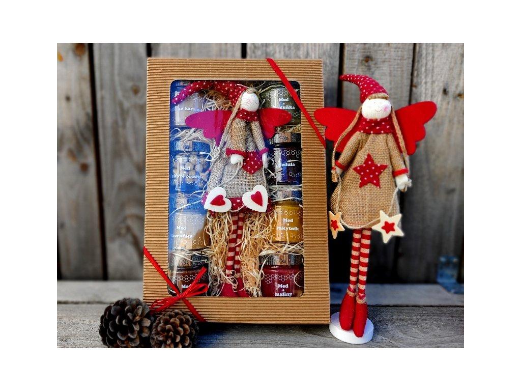 medový vánoční dárek s andělkou 1