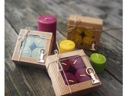 Svíčky z včelího vosku - špalíky