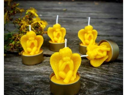 čajová svíčka včelí vosk andílek