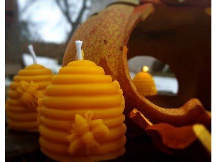 svíčka včelí vosk úlek2