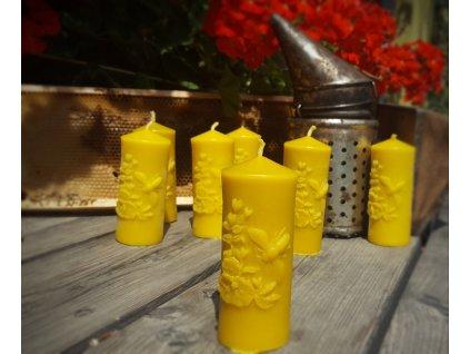 svíčka včelí vosk včela květy