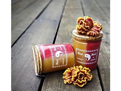 jin jang malinový med