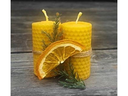 svíčka z včelího vosku pomeranč (3)