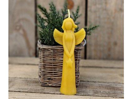 anděl svíčka včelí vosk1