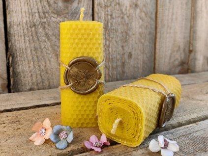 svíčka včelí vosk pečeť
